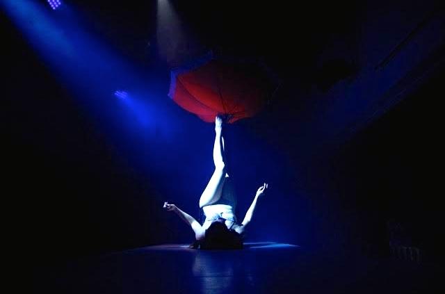 Vintage Circus Performer, Foot Juggler