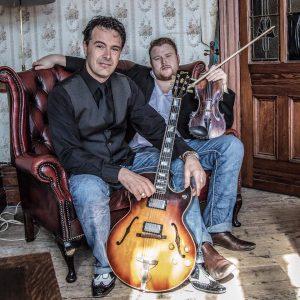 Gypsy jazz violin and guitar